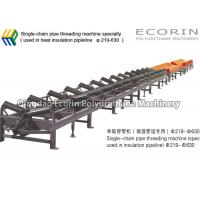 Wholesale PU Heat Insulation Pipe Machine Heat Resistant Single Chain Pipe Threading Machine from china suppliers