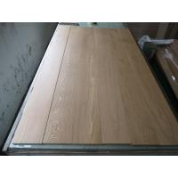 Buy cheap White Oak wide plank Engineered parquets-Natural Color & quality A/B grade,slight brushed from wholesalers