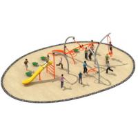 Buy cheap 830*580*250cm Simple Design Rope Climbing Structure Playground Environmental from wholesalers