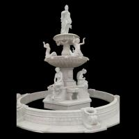 Buy cheap Garden Freestanding marble stone fountain with pool, china marble sculpture supplier from wholesalers