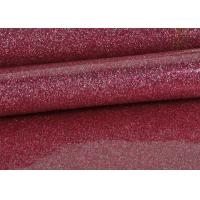 Wholesale 1.38m PVC Shinning Pink Glitter Pvc Fabric Leather With Cloth Bottom from china suppliers