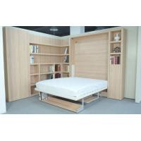 Wholesale Vertical Double Wall Bed with Bookshelf and Table Natural Color E1 Grade Panel from china suppliers