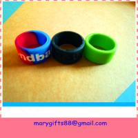 Buy cheap fashion finger silicone rubber wristband from wholesalers