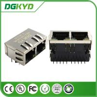 Wholesale Tab Down 1*2 Double Port 10 Pin rj45 connector for cat6 with Transformer from china suppliers
