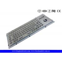 Wholesale IP65 Rated Stainless Steel Industrial Computer Kiosk Keyboard With Trackball from china suppliers
