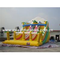Wholesale Inflatable Triple Lanes Slide With Palm Tree For Beach Games / Water Games from china suppliers