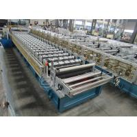 Quality Customized Roof Tile Roll Forming Machine Mitsubishi PLC , Roof Tile Making Machine for sale