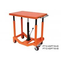 Wholesale Foot Pump Hydraulic Post Table Post Lift Table 910Kg 2000 Lb Load Capacity from china suppliers