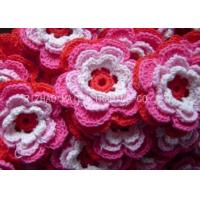 Wholesale Multilayers Handmade Knitted Applique Multicolors Crochet Flowers For Hats from china suppliers