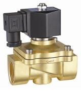 Quality 24VDC Brass Electric Water Solenoid Valve 2 Way Zero Differential Pressure for sale