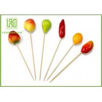 Wholesale Fruit Decorative Food Toothpicks New Style Christmas Fruit Skewers 15cm Size from china suppliers