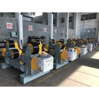 Wholesale 30T Self Aligning Pressure Vessels Pipe Welding Rotator With Double Motor And PU Wheels from china suppliers