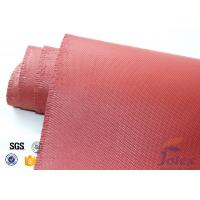 "Wholesale Red Silicone Coated Fiberglass Fabric Engine Thermal Insulation 1mm 30oz 39"" from china suppliers"