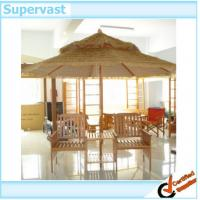 Wholesale Sunproof Wood Patio Furniture Free Standing Patio Umbrellas / Patio Straw Thatched Beach Umbrella from china suppliers