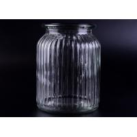 Wholesale Clear Tall Soy Glass Bottle Candle Holders / 1000ml Glass Candlestick Holders from china suppliers