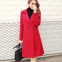 Wholesale Thickening of ladies wool and cotton turn-down collar coat fashion and casual from china suppliers