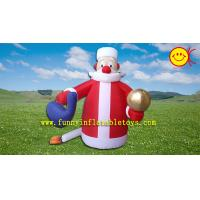 Wholesale Holiday Inflatable Cute Santa Claus  for Christmas , PVC Inflatable Santa ASTM Standard from china suppliers