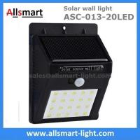 Wholesale Exterior 20LED Wall Mount  Black Lampshade Solar Motion Sensor Wall Light Outdoor Wall Lamp Solar Lighting from china suppliers