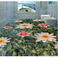 Buy cheap Fashion The earth Design Eco-Friendly Waterproof Bedroom Art Decor 3d Floor Stickers from wholesalers