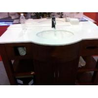 Wholesale Crystallized Glass Vanity Top/Pure White Artificial Vanity Top from china suppliers