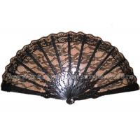Wholesale Elegant Black Lace Hand Fans from china suppliers