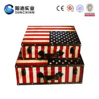Wholesale Canvas Printing Wooden Suitcase/Wedding Card Box/Storage Box/ Trunk from china suppliers