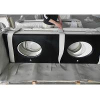 Quality Artificial Black Quartz Bathroom Vanity Tops Bathroom Washroom Toilet for sale
