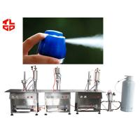 Wholesale Semi Automatic Aerosol Filling Machine , Air Freshener Aerosol Filling System from china suppliers