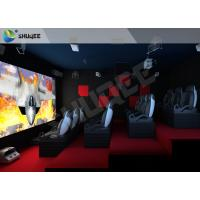 Wholesale Red Motion Chairs 5D Theater System , 5D Cinema Simulator For Shopping Mall from china suppliers