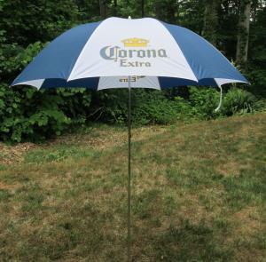 Wholesale Corona-Extra-Nylon-Beach-Backyard-or-Hand-Held-Umbrella-Blue-Whi from china suppliers