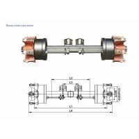 Wholesale German Type axles Spoke Wheel Axle 8T-20T from china suppliers