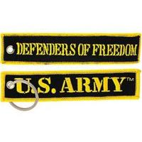 Wholesale Embroidered Luggage Tag US Army Defenders of Freedom Key Chain Keyring from china suppliers