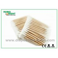 "Wholesale Single / Double Head Hospital Disposable Products Surgical Wooden Cotton Swabs 3"" from china suppliers"