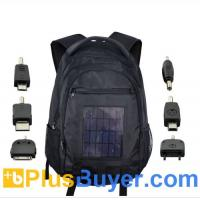Wholesale Solar Battery Charger Backpack (6 Adapters, 2200mAh, 2.4W) from china suppliers