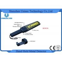 Quality High Sensitivity Hand Held Security Detector , Metal Detector Scanner For Airport for sale