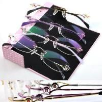Wholesale Rimless Phanton Crystal Optical Frame Eyeglasses (1005) from china suppliers