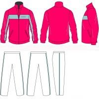 Wholesale OEM Zipped  Jogging Suit Track Tops , Long Trousers Sportswear With Custom Printing Logos from china suppliers