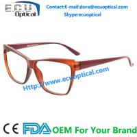 Wholesale Cat eye Optical Eyeglasses for men Acetate temple with Flex CE FDA from china suppliers
