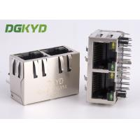 Wholesale Right Angle 1 x 2 port RJ45 Modular Jack with internal isolation transformer 1000 BASE from china suppliers