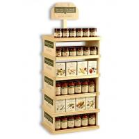 Wholesale Eco – Friendly Tiered Wooden Display Stands Burly For Red Wine Retail Store from china suppliers