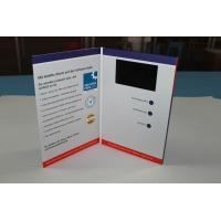 Wholesale custom memory video brochure card with built - in speaker / Rechargeable battery , A5 size from china suppliers