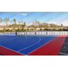 Buy cheap Waterproof Bathroom Interlocking Sports Flooring Indoor , Purple / Blue from wholesalers