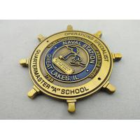 Wholesale Double Sided Copper, Iron, Brass Quarterdeck Coin with Soft Enamel, Antique Gold Plating from china suppliers