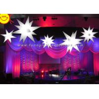 Wholesale LED Lighting Stars Inflatable Party Decorations With High Air Tightness , Digital Printing from china suppliers