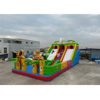 Wholesale EN14960 White Blue Inflatable Fun City 0.55MM PVC Tarpaulin 13M * 7M * 5M from china suppliers