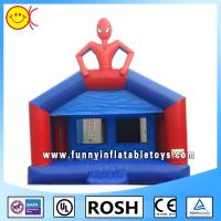 Wholesale Popular Spider Man Kids Commercial Inflatable Bouncers Blue Durable from china suppliers
