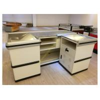 Wholesale Retail White Supermarket Checkout Counter / Commercial Shop Counter Desk from china suppliers
