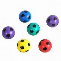 Quality Bouncing Balls with Football Printing, Measures 2.70 x 2.70 x 2.7cm for sale