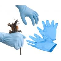 Buy cheap Tattoo Medical Blue Latex Gloves Powder Free In Big / Middle / Small Size from wholesalers