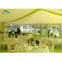 Wholesale Family Party Pagoda Tents Glass Wall With Beautiful Linings / Curtains from china suppliers